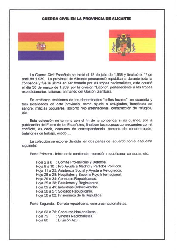 Colección Guerra Civil en Alicante